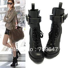 chic combat boots -