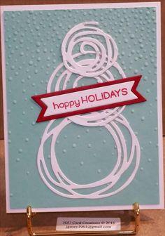 Clean & Simple Handmade Christmas Card, Swirly Bird Die, Stampin Up