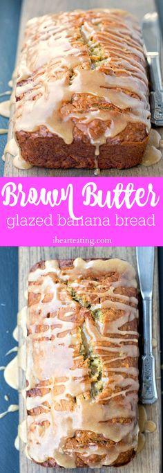 Brown Butter Glazed Banana Bread