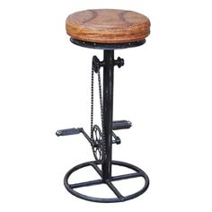 Mateo Industrial Fixed Bicycle Bar Stool
