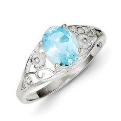 Sterling Silver Blue Topaz Ring by Hazrati Available at joyfulcrown.com
