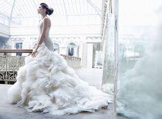 Lovely Lazaro wedding gown