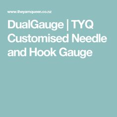 DualGauge   TYQ Customised Needle and Hook Gauge Knitting Gauge, Knitting Yarn, Gauges, Ears Piercing, Ear Plugs