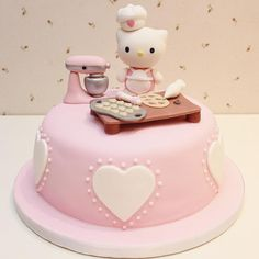 Fondant Hello Kitty cake. Cutie!