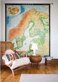 Landkarte Deko