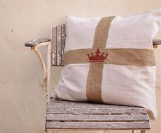 pillow using hessian binding used to hold springs under chairs..