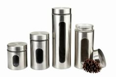 M2CBridge 4-Piece Kitchen Collection Metal-Coated Window Canister Set with Airtight Lids (Stainless Steel) M2CBridge,http://www.amazon.com/dp/B00FDNRUAW/ref=cm_sw_r_pi_dp_6wiotb1WJBNMSA0J