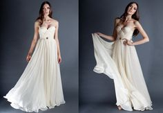 THIS is the dress I'll wear on my wedding day!!!          Ivory Annie Wedding Gown Silk Hand Gathered Bustier by reddoll, $1395.00