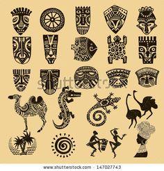 African Seth. African infographics Tribal set; compre este vectores en stock en Shutterstock y encuentre otras imágenes.