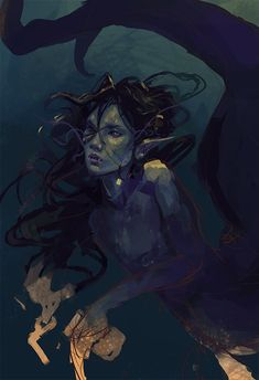 a wip of a very ridiculous and gross mermaid Local Scientists Hate Her, All Peanut Butter Stolen With So Many Traces Left peanut thief Evil Mermaids, Fantasy Mermaids, Mermaids And Mermen, Scary Mermaid, Mermaid Man, Fantasy Creatures, Mythical Creatures, Sea Creatures, Character Inspiration