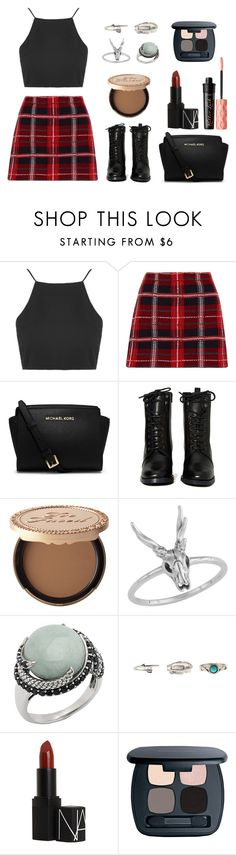 """""""Ready To Party"""" by besapir2 ❤ liked on Polyvore featuring Topshop, Miu Miu, MICHAEL Michael Kors, Report, Too Faced Cosmetics, Charlotte Russe, NARS Cosmetics, Bare Escentuals and Benefit"""