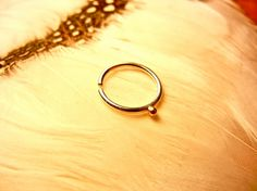 Shanti Septum Ring Nose Ring Lip Ring Belly by BeleafJewelry, $15.00