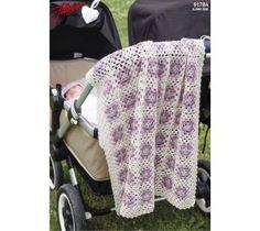 91784. BABYFILT I MORMORSRUTOR Blanket, Crochet, Pink, Prepping, Threading, Ganchillo, Blankets, Cover, Crocheting