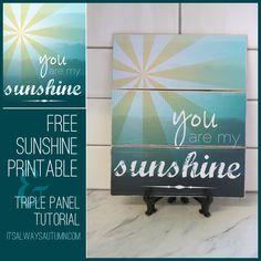 it's always autumn - itsalwaysautumn - Make: Sunshine Printable {free download!} and triple panel wall arttutorial
