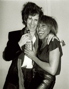 Keith Richards, Tina Turner partying in New York City in 1983 by legendary rock photographer Bob Gruen