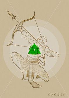 Oxóssi na Umbanda é considerado patrono da linha dos caboclos, atuando para o bem-estar físico e espiritual dos seres humanos. Segundo esta religião, Oxóssi é figura representativa de uma das sete forças principais de Deus: a força da luta, do trabalho, da providência e da afirmação positiva.
