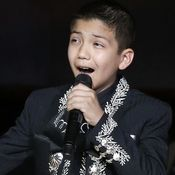 """Sebastien de la Cruz gave an encore performance of """"The Star-Spangled Banner"""" Singing The National Anthem, Star Spangled Banner, Year Old, Music Videos, Stars, Face, One Year Old, Age, Sterne"""