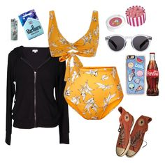"""""""Beach Vibes"""" by disney-geek-forever ❤ liked on Polyvore featuring Velvet by Graham & Spencer, Camp Cove, Illesteva, Zero Gravity and Converse"""