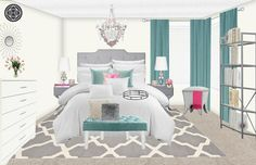 Glam bedroom makeover  . . . . #contemporary #glam #glamdesign #homedecor #design #bedroom #bedroomgoals #bedroomoasis #rendering #edesign #inspo #inspiration #interiordesign #interiordesigner #instalove #instagood #designlife #me #love #photooftheday #popofcolor