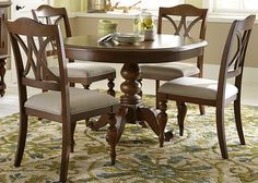 Summer House Round Pedestal Table by Liberty Furniture