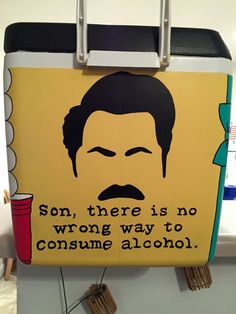 "T3 but with quote ""clear alcohols are for rich women on diets"" - Ron Swanson"