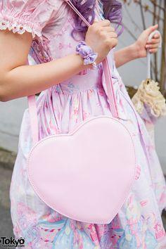 Pink heart-shaped bag