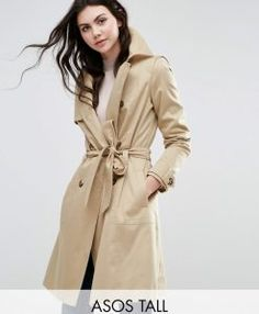 Buy trench coats for women online Women& Fashion Search Engine ladendirekt.de - ASOS TALL – Classic Trenchcoat – Beige Order now at: mode. Beige Trenchcoat, Mantel Trenchcoat, Beige Coat, Latest Fashion Clothes, Fashion Online, Asos, Coats For Women, Clothes For Women, Tall Clothing