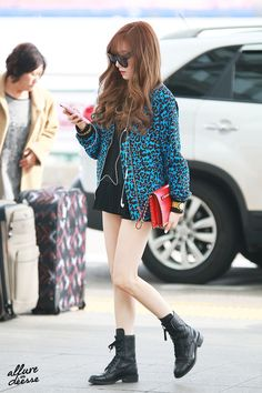 SNSD Tiffany Airport Fashion 150328 2015