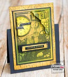 Card by Michelle Loffler using Darkroom Door 'Mr Bright Idea' Collage Stamp. http://www.darkroomdoor.com/collage-stamps/collage-stamp-mr-bright-idea