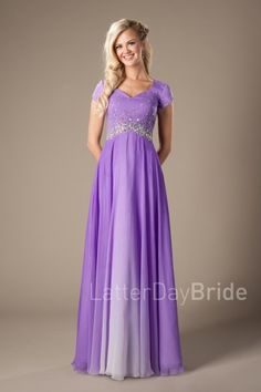 modest prom gowns with beading, the Ferris in purple