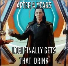But then he never drinks it. He just sets it down and leaves it.