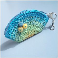 crochet purse key chain