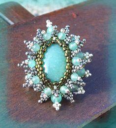 crocheted beaded ring