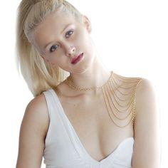 Fashion Unique Tassel Cape Gold Body Chains For Women