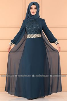 Hijab Evening Dresses – Hijab Evening Dresses and Prices Burqa Fashion, Muslim Women Fashion, Hijab Fashion, Fashion Dresses, Stylish Dress Designs, Stylish Dresses, Dress Brokat Muslim, Indigo, Hijab Evening Dress