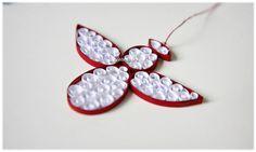 Glückbringer Schutzengel Rot Weiß Weihnachten Deko von Liebeabies auf DaWanda.com