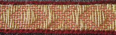 Tablet Weaving by Lise Ræder Knudsen - Reconstruction and pattern of tablet woven border from the grave of King Erik Klipping