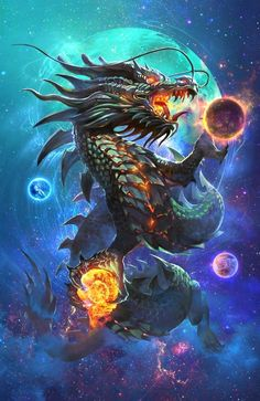 Tagged with anime, dragon, fantasy, dungeons and dragons; Daily dose of dragons ~ Mythical Creatures Art, Mythological Creatures, Fantasy World, Dark Fantasy, Chinese Dragon Tattoos, Cool Dragons, Dragon Artwork, Dragon Pictures, Dragon's Lair