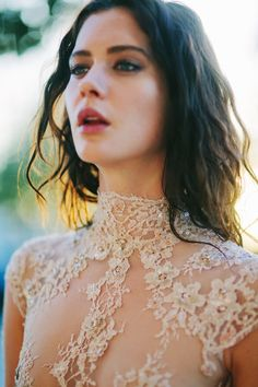 lace / via: The LANE - Stealing Beauty editorial / Wedding Style Inspiration / LANE Top Wedding Dresses, Wedding Dress Trends, Wedding Gowns, Lace Wedding, Wedding Pics, Wedding Styles, Wedding Blog, Stealing Beauty, Wedding Inspiration