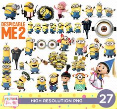 #DespicableMeParty #MinionsParty #MinionsBirthday #MinionsPartyDecor #DespicableMePartyDecor #DespicableMe #MinionsPNG #MinionsCutOut #DespicableMeCutout #MinonsPrintable, #MinionsPNG #PNGFiles #MinionsDecoration #Scrapbook Stickers Birthday Party #MinionsClipart #DespicableMeClipart #Agnes #Gru #Minions #DespicableMeUnicorn by #VectorsForAll on #Etsy