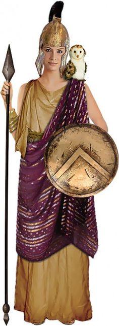 Athena costume idea for Sophia's birthday party - Greek Goddess theme. Costumes For Sale, Couple Halloween Costumes, Adult Costumes, Costumes For Women, Woman Costumes, Pirate Costumes, Halloween Ideas, Costume Ninja, Deer Costume