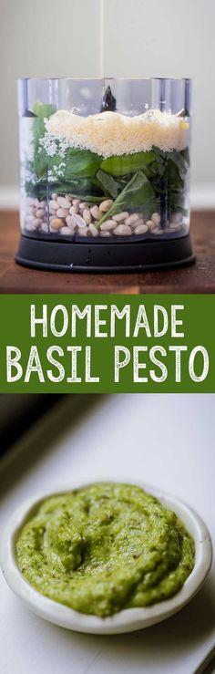 Homemade Basil Pesto - Eazy Peazy Mealz