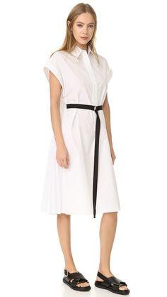 TOME Short Sleeve Shirtdress. #tome #cloth #dress #top #shirt #sweater #skirt #beachwear #activewear