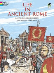 Life in Ancient Rome coloring book, Dover Publications