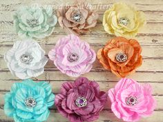 Twisted paper cord flowers, video tutorial