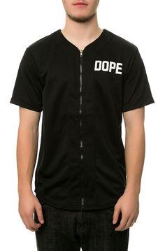 DOPE Top The Zip Front Baseball Jersey in Black - Karmaloop.com