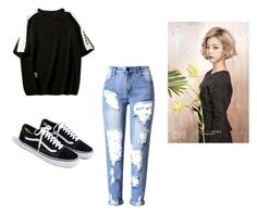 """""""Bo Mi's casual wear"""" by pantsulord on Polyvore featuring WithChic and J.Crew"""