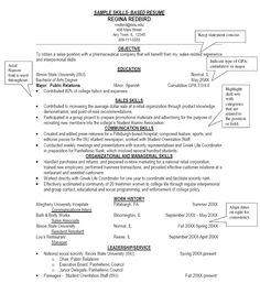 I Really Hate Skill Based Resumes Fistful Of Talent College Resume Internship Student