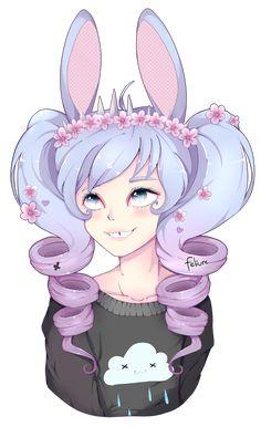 [OC] rabbit hearted girl by feliure on DeviantArt