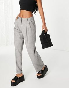 Topshop tailored sweatpants in gray | ASOS Topshop Jeans, Topshop Tops, Topshop Outfit, Jean Topshop, Asos, Tux Dress, Chunky Knit Jumper, Checked Scarf, Trousers